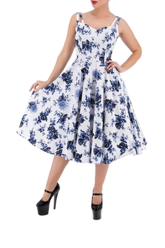 Hearts and Roses Vintage Blue Florals - Product List Image
