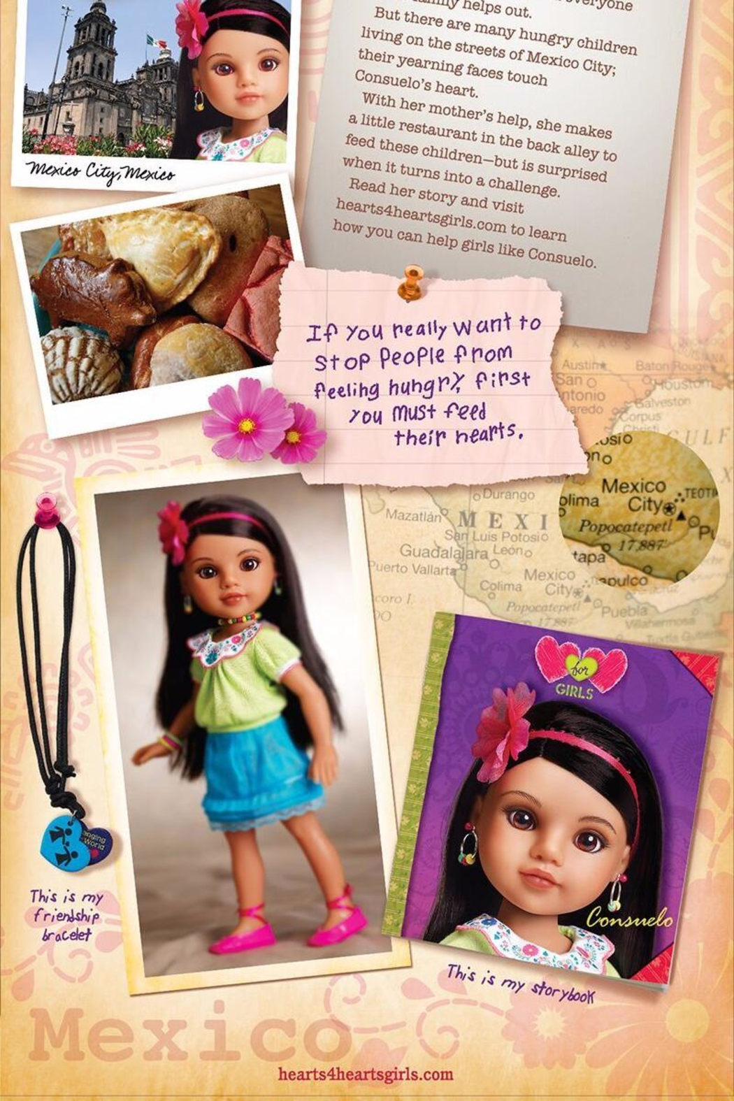 Hearts for Hearts Dolls Consuelo Doll - Front Full Image