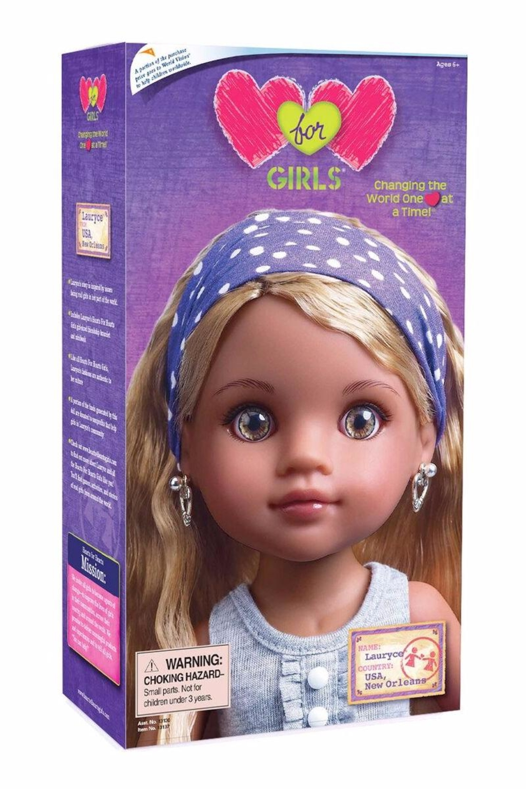 Hearts for Hearts Dolls Lauryce Doll - Front Full Image