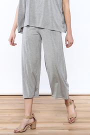 Heartstring Grey Banded Crop Pant - Front cropped