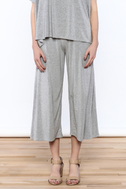 Heartstring Grey Banded Crop Pant - Side cropped