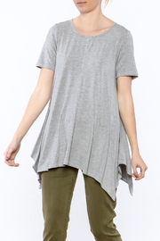 Heartstring Grey Flare Tunic Top - Product Mini Image
