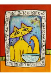 Heartville Studios Happy Cat Painting - Front cropped