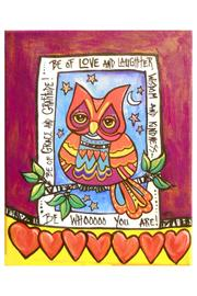 Heartville Studios Happy Owl Painting - Product Mini Image