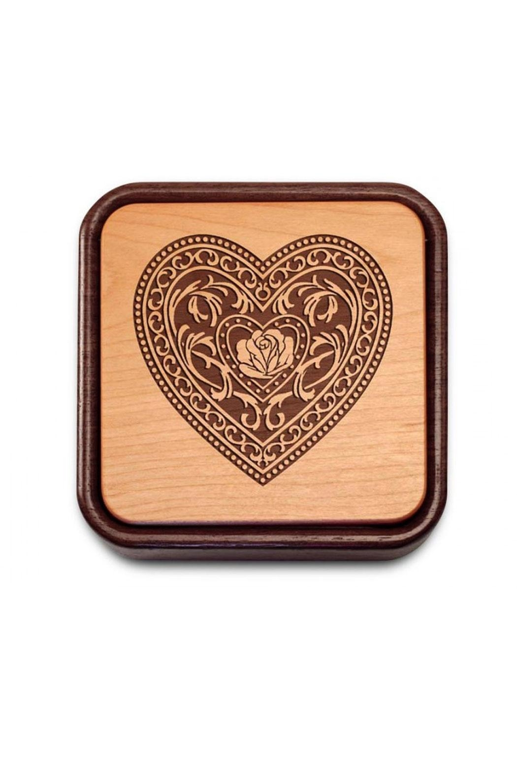 Heartwood Creations Fliptop Wooden Box - Front Full Image