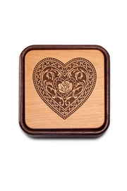 Heartwood Creations Fliptop Wooden Box - Front full body