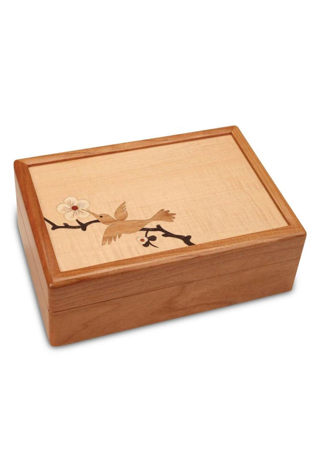 Heartwood Creations Hummingbird Jewelry Box - Front Cropped Image