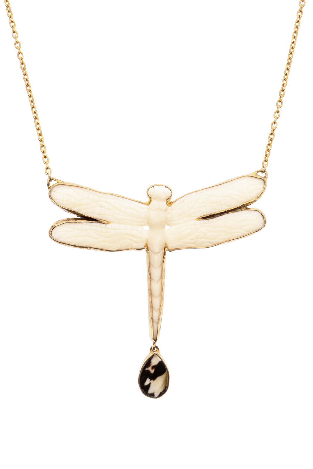 Heather Benjamin Bone Dragon Fly Necklace - Front Full Image