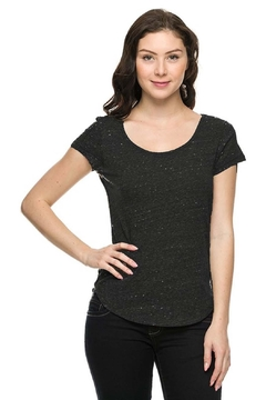Bozzolo Heather Black Top - Product List Image