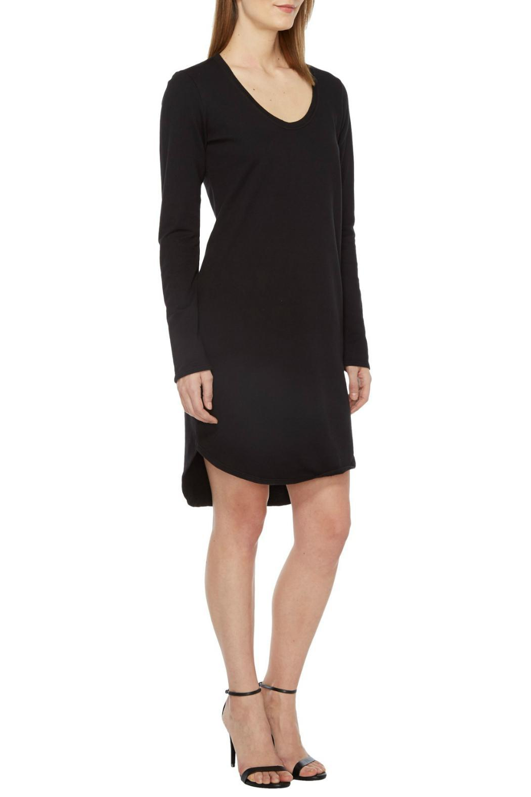 Heather French Terry Scoop Dress - Back Cropped Image