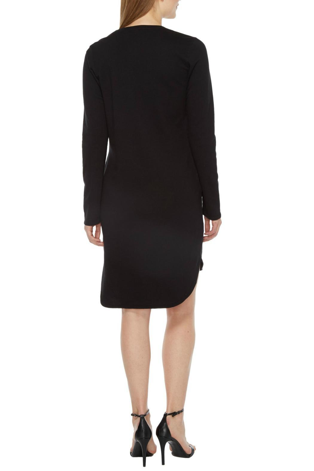 Heather French Terry Scoop Dress - Side Cropped Image