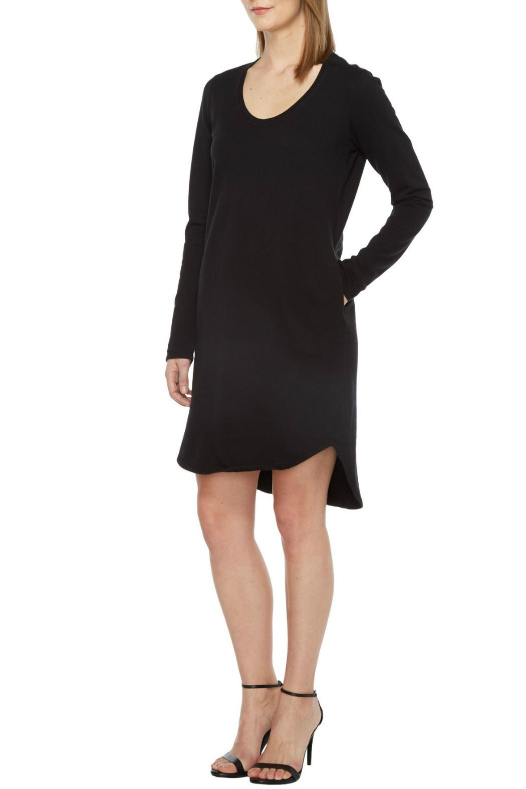 Heather French Terry Scoop Dress - Front Full Image