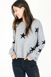 Six Fifty Heather Gray With Black Star Sweater - Product Mini Image