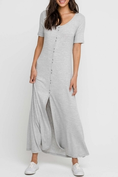 Lush Heather-Grey Button-Down Dress - Product List Image