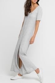Lush Heather-Grey Button-Down Dress - Other