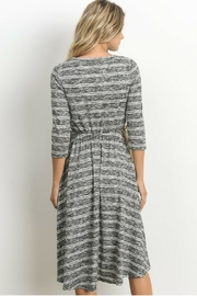 Le Lis Heather Grey Dress - Front full body