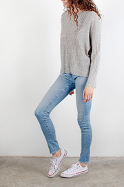Mod Ref Heather Grey Flecked Sweater - Product Mini Image
