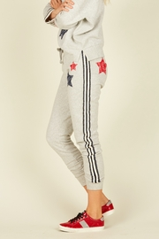 Vintage Havana  Heather Grey Joggers W/ Red & Blue Stripe - Product Mini Image