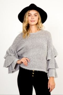 Olivaceous Heather Grey Sweater - Product List Image