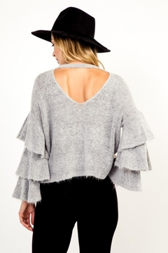 Olivaceous Heather Grey Sweater - Alternate List Image