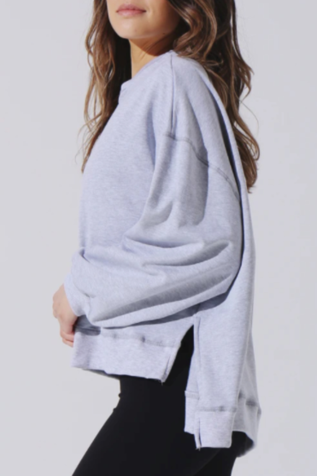Electric & Rose Heather Grey Sweatshirt - Front Full Image