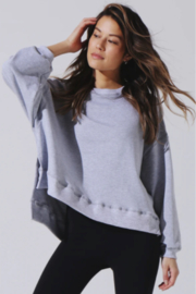 Electric & Rose Heather Grey Sweatshirt - Side cropped