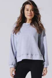 Electric & Rose Heather Grey Sweatshirt - Front cropped