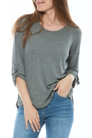 Olive and Oak Heather Grey Top - Product Mini Image
