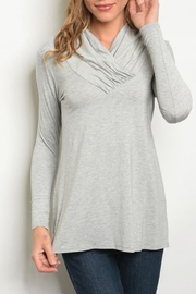 Les Amis Heather Grey Top - Product Mini Image