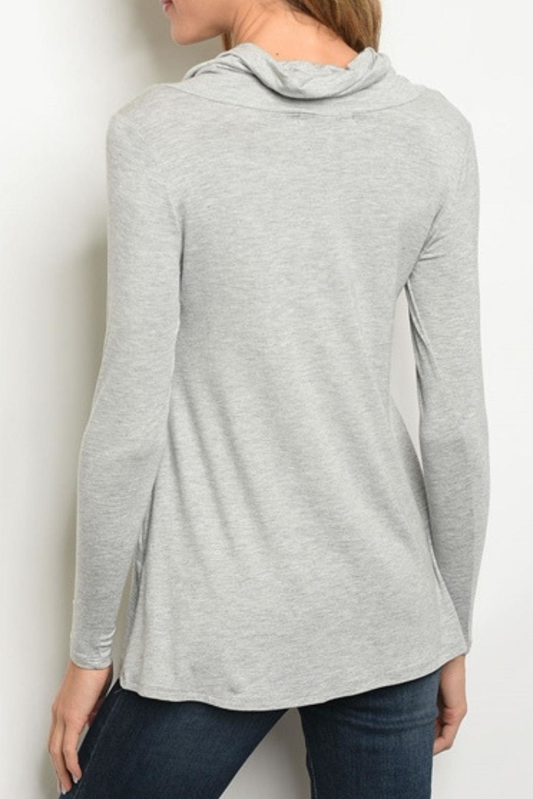 Les Amis Heather Grey Top - Front Full Image