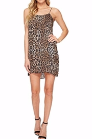 Heather Leopard Slip Dress - Front cropped