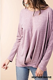 KORI AMERICA Heather Mauve Top - Product Mini Image
