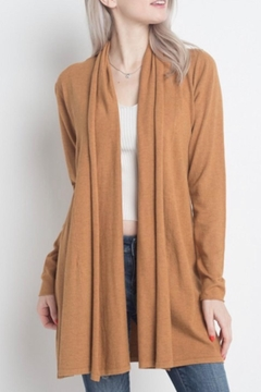 Dreamers Heather-Mustard Soft-Open Cardigan - Product List Image
