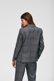 Tara Jarmon Heather Plaid Blazer - Back cropped