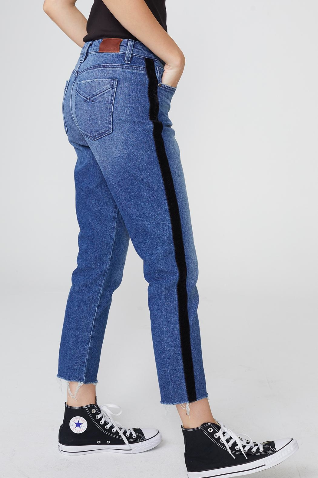 Unpublished Heather Ribbon Jeans - Side Cropped Image
