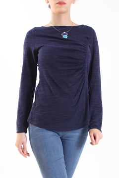 Shoptiques Product: Heather Ruched Sweater