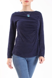 Talk of the Walk Heather Ruched Sweater - Product Mini Image