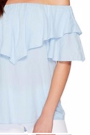 Heather Ruffle Off-Shoulder Top - Product Mini Image