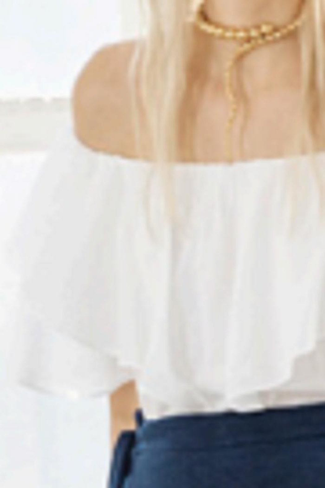 Heather Ruffle Off-Shoulder Top - Front Cropped Image