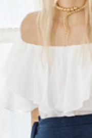 Heather Ruffle Off-Shoulder Top - Front cropped