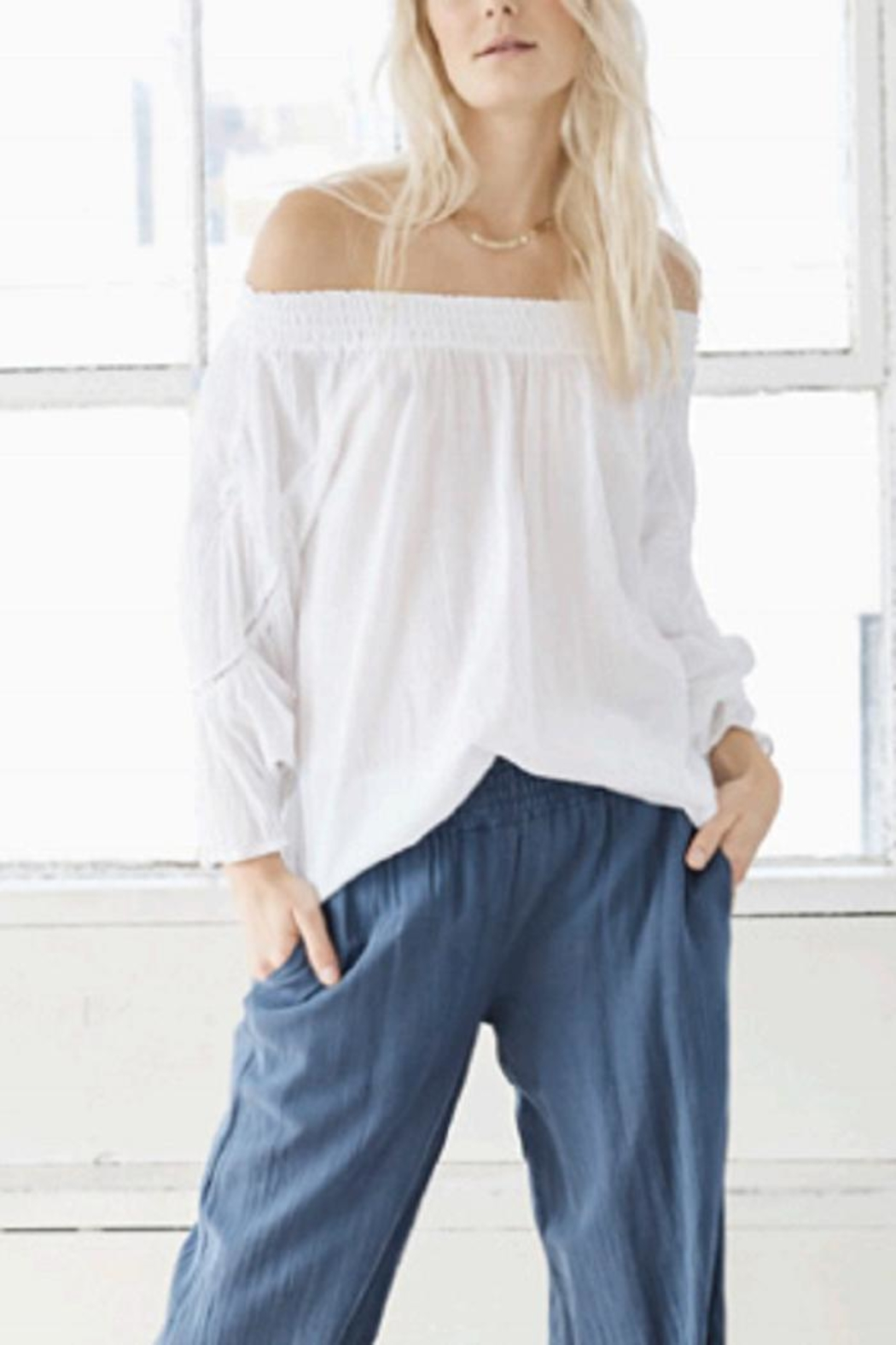 Heather Viole Peasant Top - Main Image
