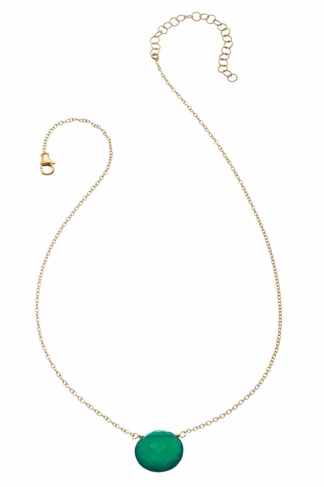 Heather Hawkins Faceted Coin Necklace - Front Cropped Image
