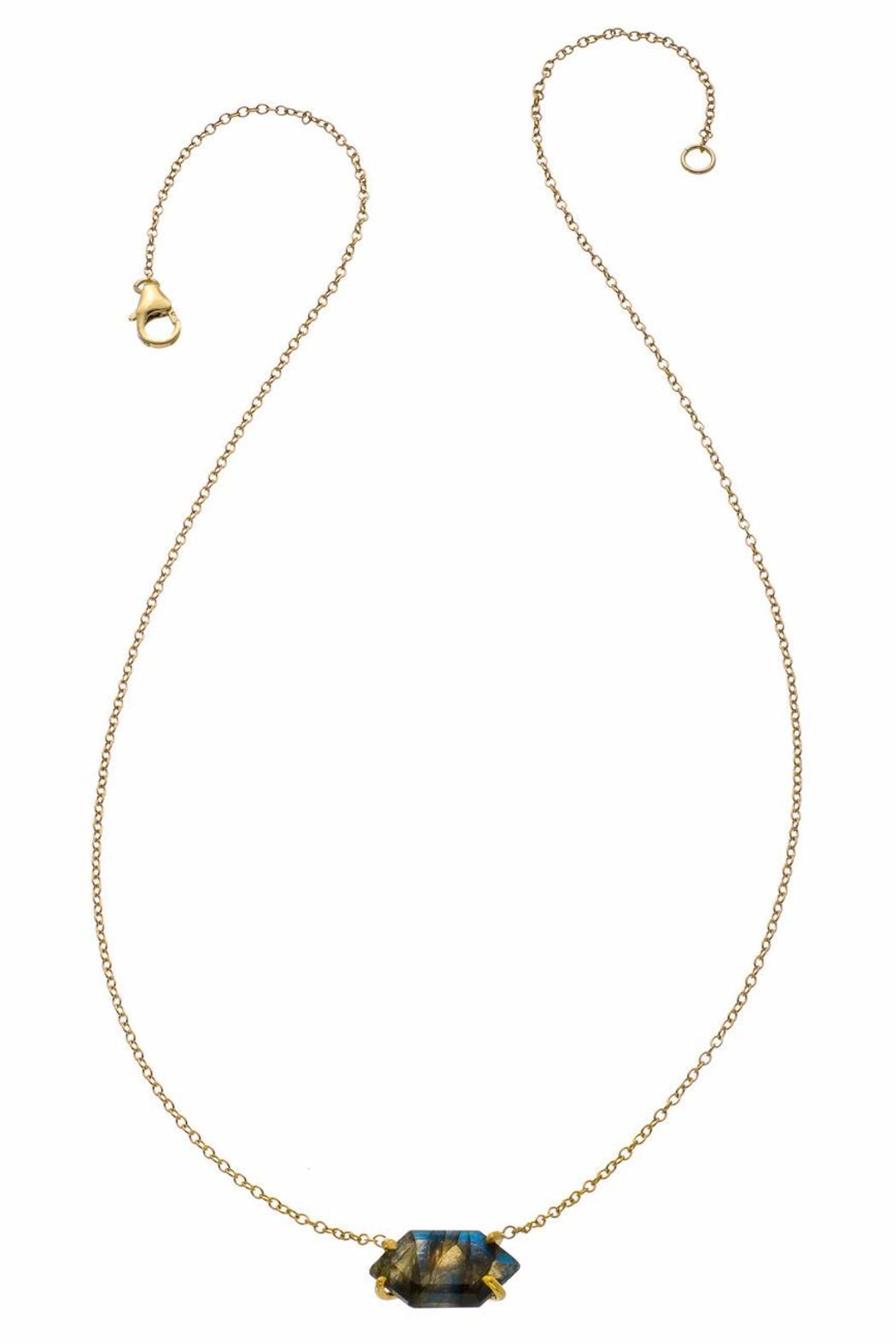 Heather Hawkins Oblong Hexagon Necklace - Front Cropped Image
