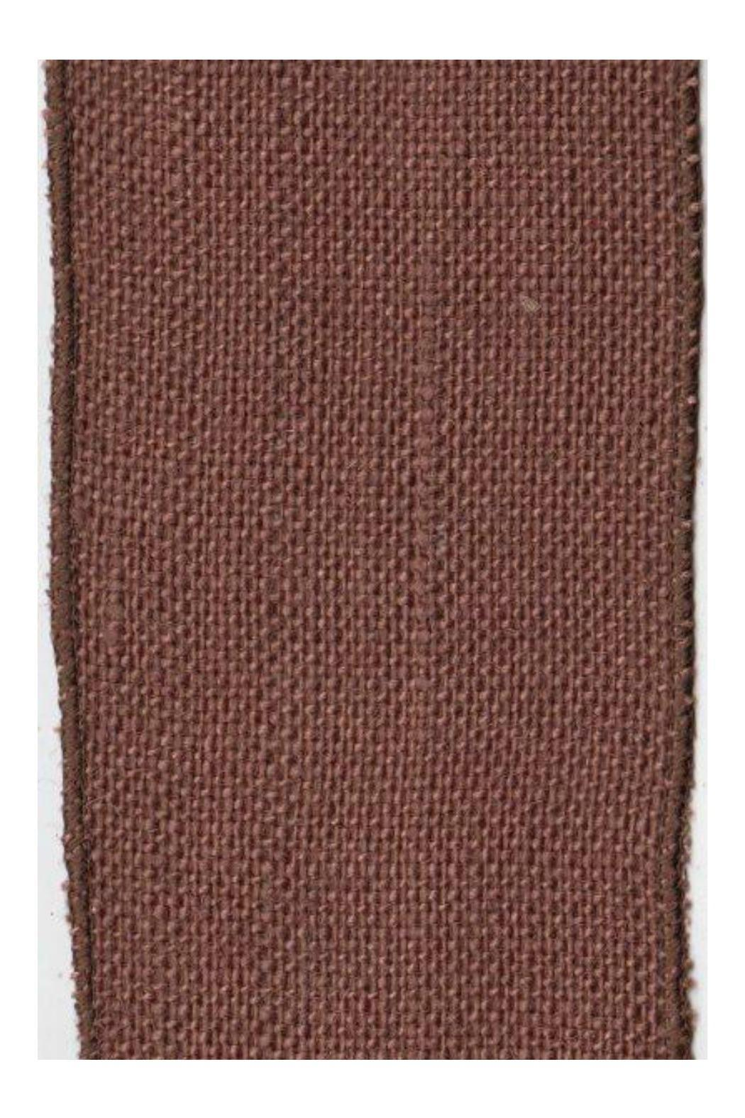 Heather Scott Home & Design Chocolate Burlap Ribbon - Front Cropped Image