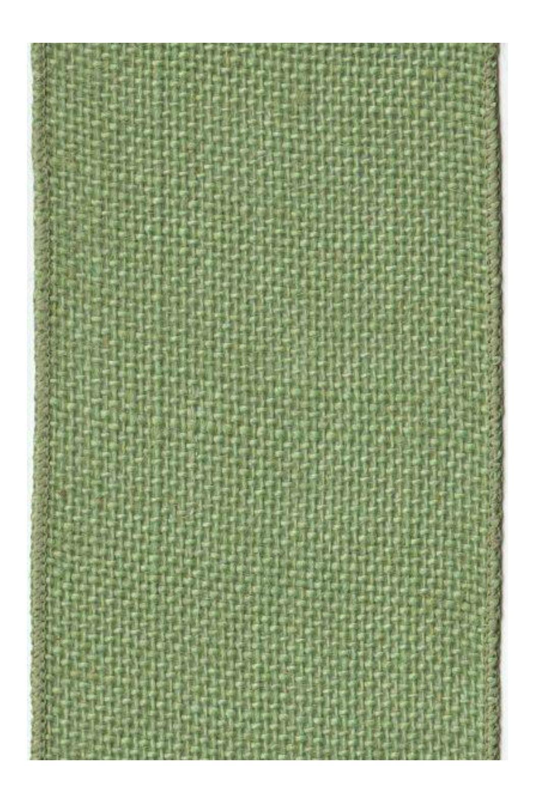 Heather Scott Home & Design Green Burlap Ribbon - Front Cropped Image