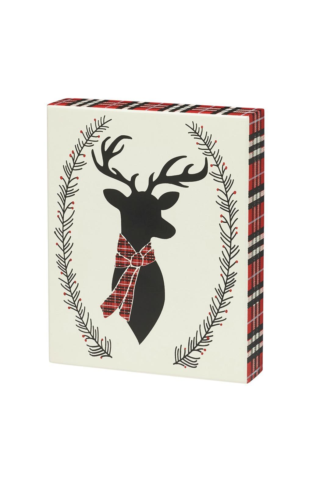 Heather Scott Home & Design Plaid Deer Sign - Main Image