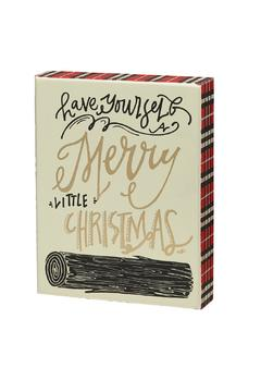 Heather Scott Home & Design Plaid Merry Sign - Alternate List Image