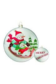 Heather Scott Home & Design Snowman Sled Ornament - Front cropped
