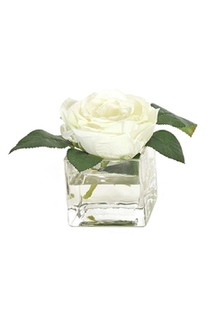 Shoptiques Product: White Faux Rose