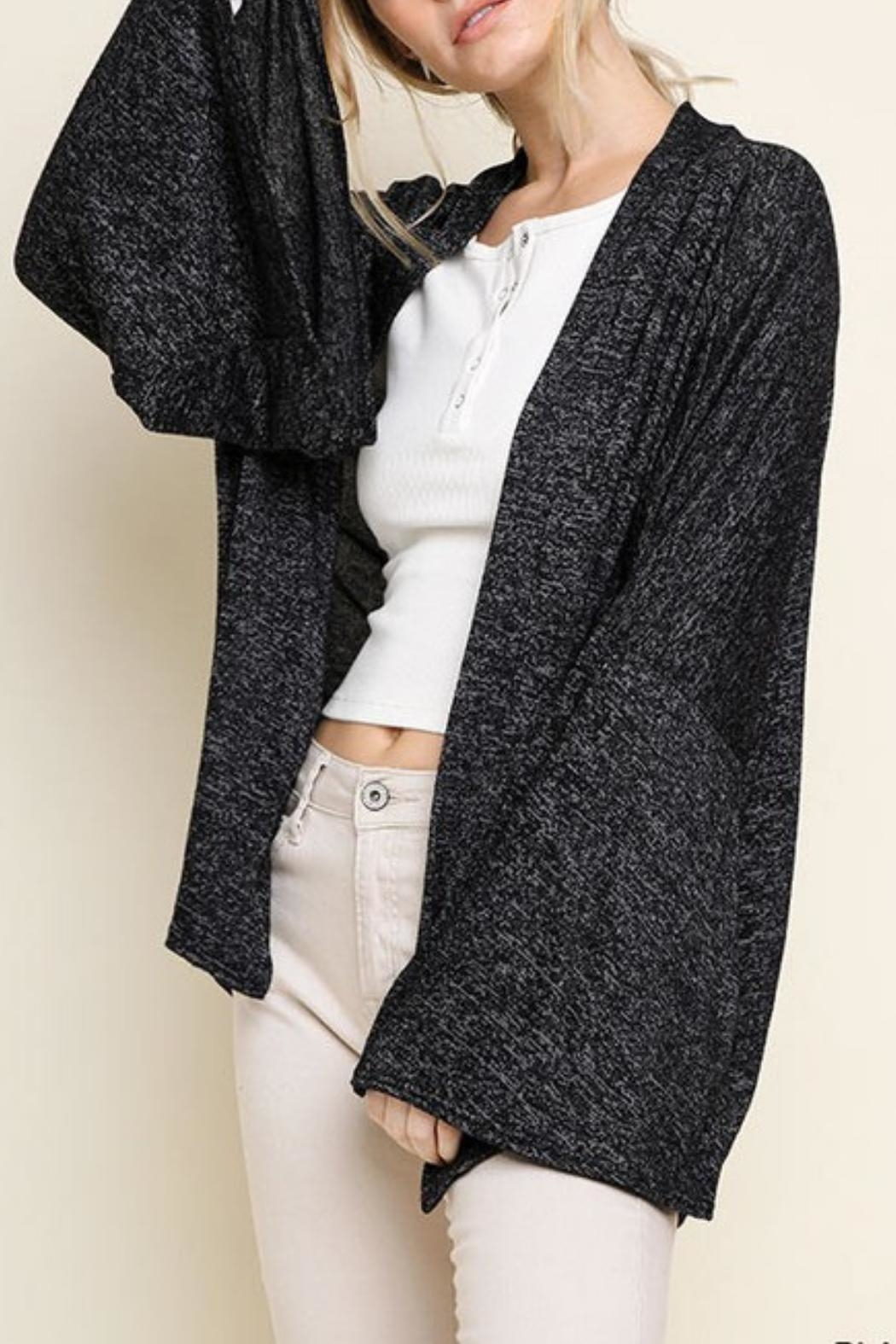 Umgee Usa Heathered Bell Sleeve Cardigan From Chicago By Chic